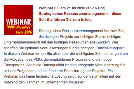 Webinar: Strategisches Ressourcenmanagement