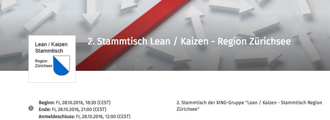 Stammtisch: Lean / Kaizen